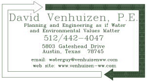 Contact Info for David Venhuizen, email: waterguy@venhuizen-ww.com